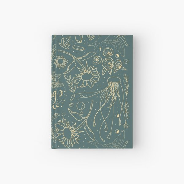All things grow: sunflowers, jellyfish, roses, swallows Hardcover Journal