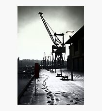 Chatham Historic Dockyard Crane Photographic Print