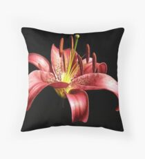 Lilly nightshot Throw Pillow