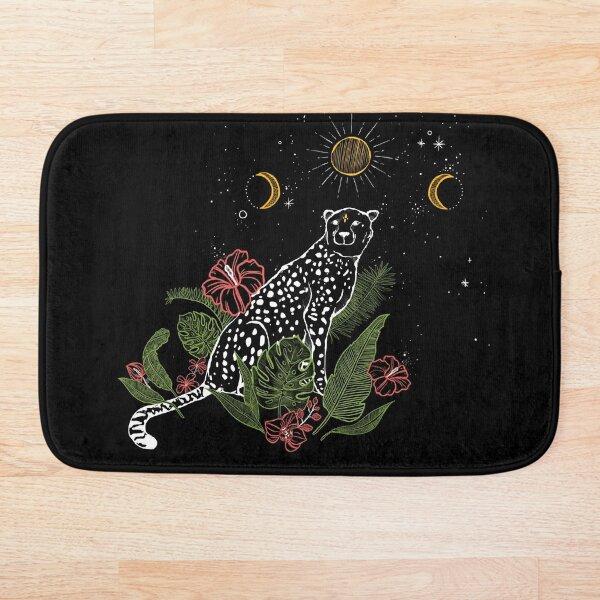 Tropical Cheetah Print Bath Mat