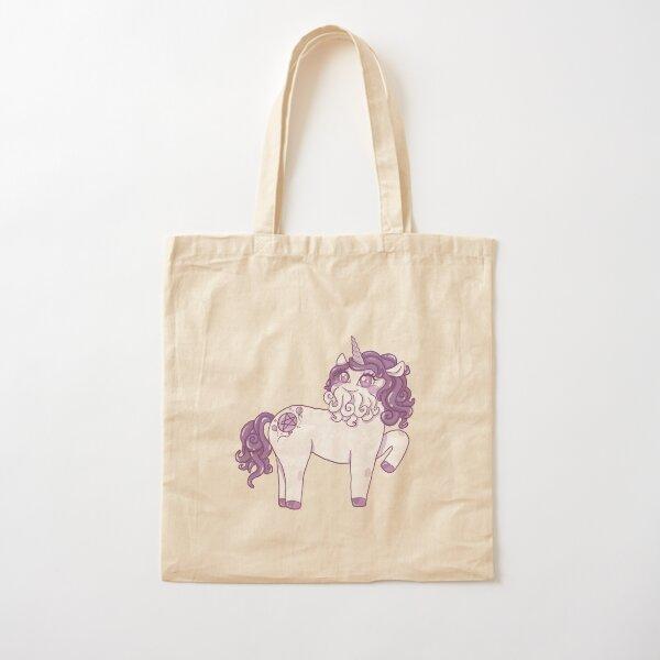 Purple Cthulhu-corn Cotton Tote Bag