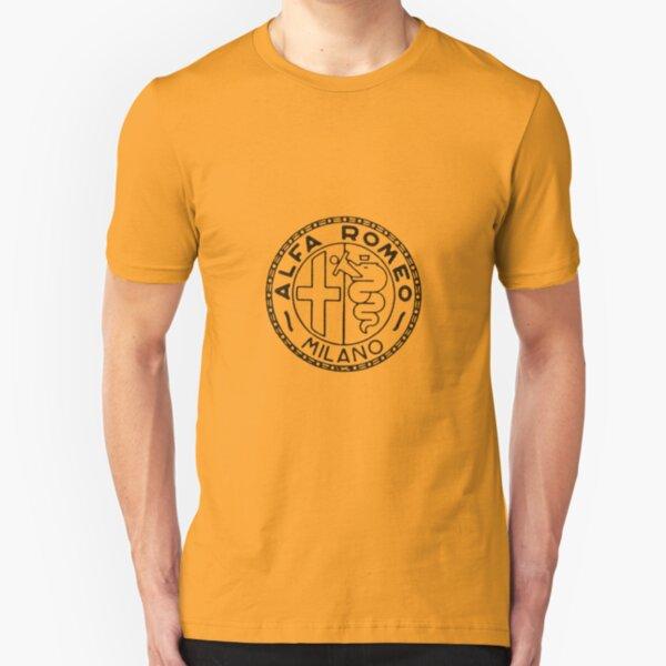 Old Alfa Black Slim Fit T-Shirt