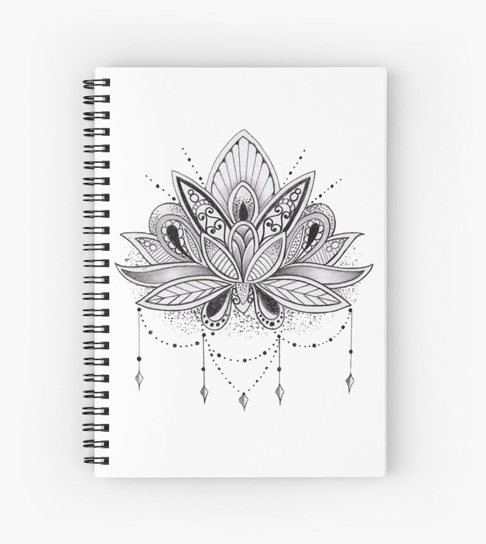Quot Mandala Lotus Flower Quot Spiral Notebook By Mermaidnatalie