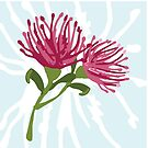 Australian Native Pink Grevillea by thatsgraphic
