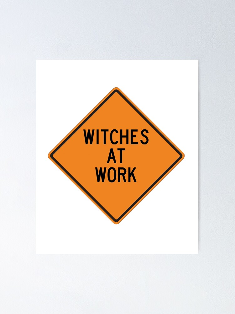 Alternate view of Witches at Work Poster