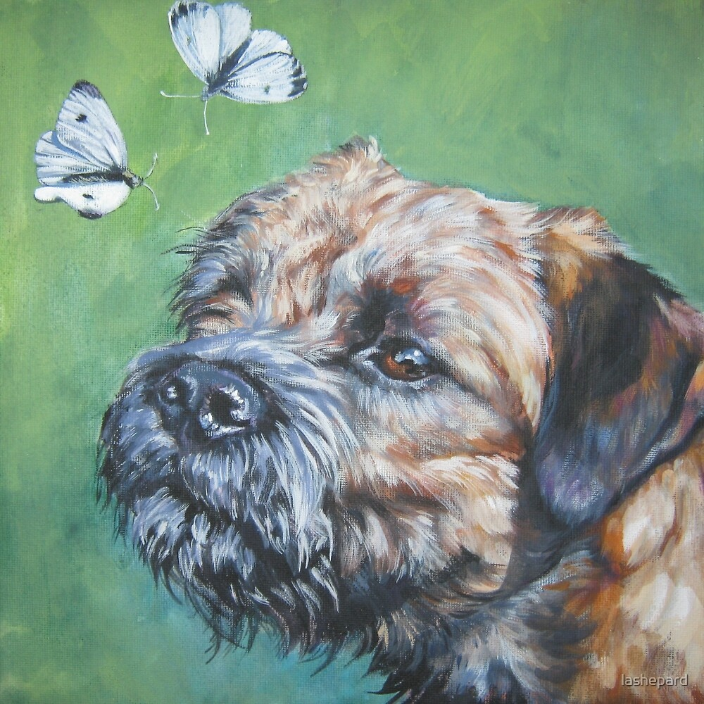 Border Terrier Fine Art Painting by lashepard