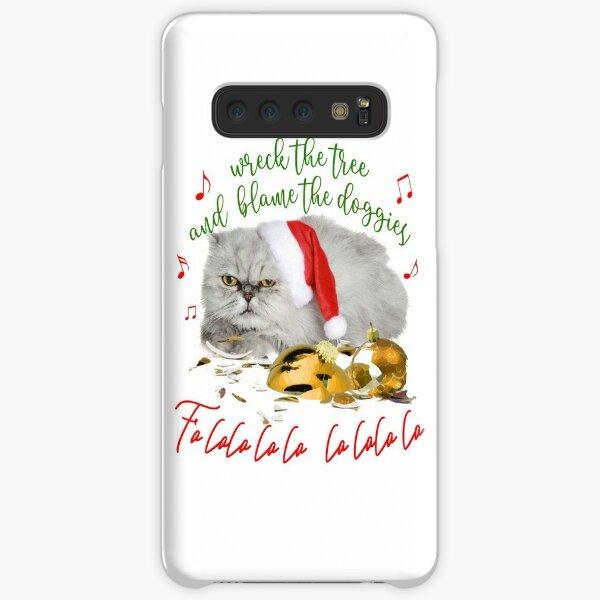 Funny Christmas Cat Falalalala Samsung Galaxy Snap Case