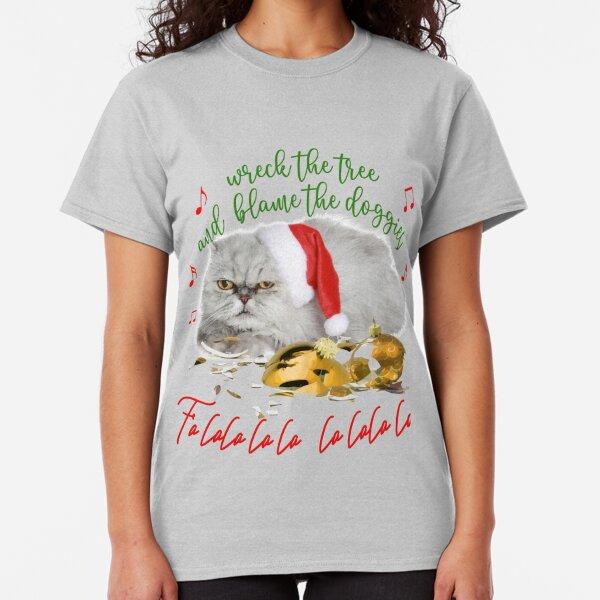 Funny Christmas Cat Falalalala Classic T-Shirt