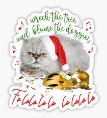 Funny Christmas Cat Falalalala Sticker