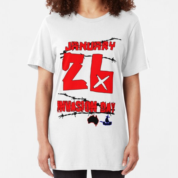 January 26 Invasion Day Slim Fit T-Shirt