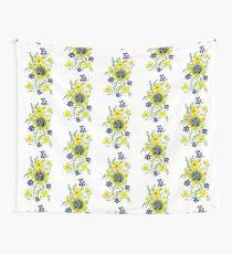 Yellow Flower Spray Wall Tapestry
