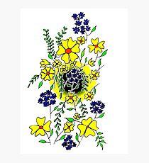 Yellow Flower Spray Photographic Print