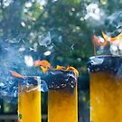 Lantau Island Buddha Temple - Incense Candles by Richie Wessen