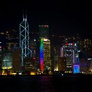 Night View of Central Hong Kong by Richie Wessen