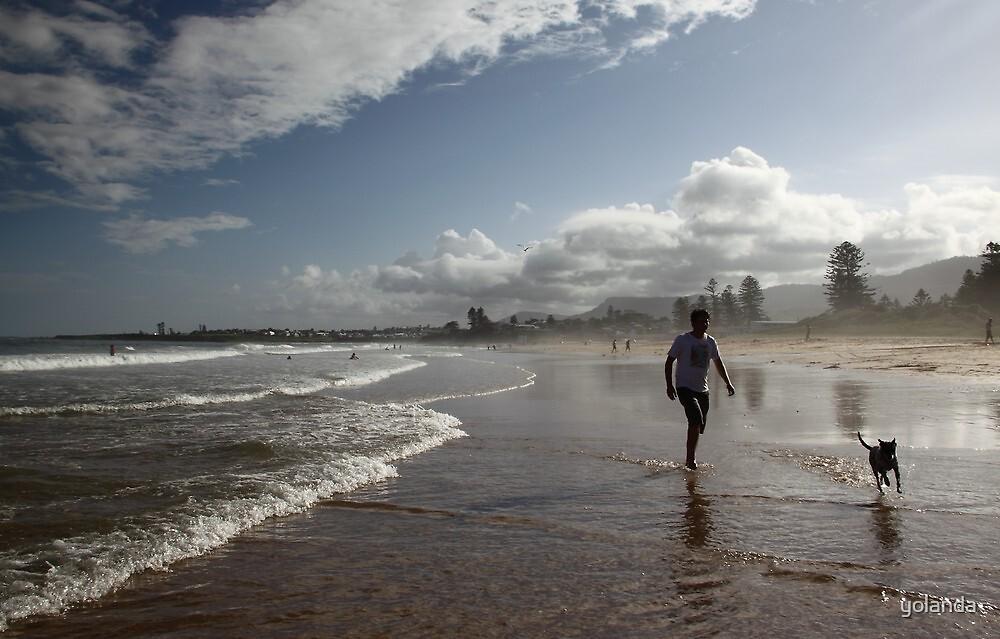 Beach Running by yolanda