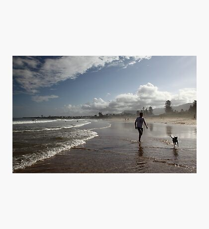 Beach Running Photographic Print