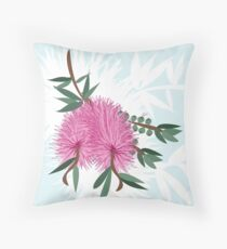 Bottlebrush -  Australian Native Flower - Australiana decor - Aussie Flora Throw Pillow