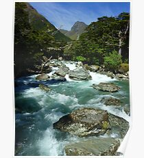 """""""The Routeburn"""" - Fiordland and Mount Aspiring National Parks Poster"""