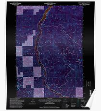 USGS Topo Map Oregon Warner Mountain 282021 1997 24000 Inverted Poster