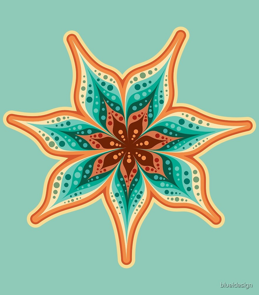 Flower Abstract Boho Chic by blueidesign