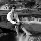 Relaxing at Water Fall by Mukesh Srivastava