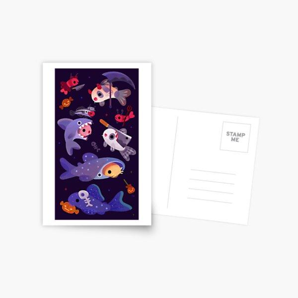 Gruselige Cory-Katzen Postkarte