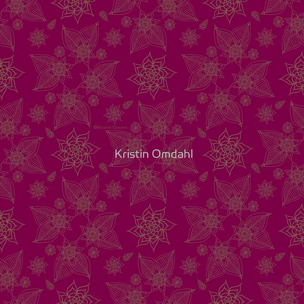Gilded Roses Darker Magenta by Kristin Omdahl