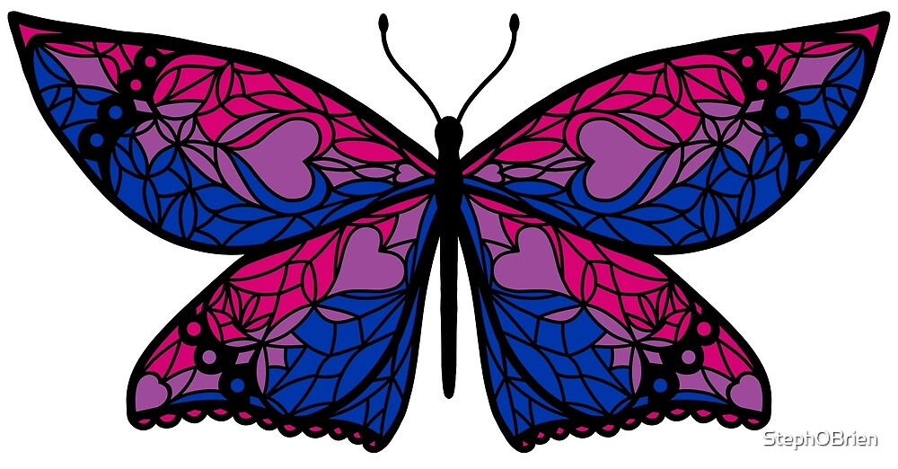 Fly With Pride: Bisexual Flag Butterfly by StephOBrien