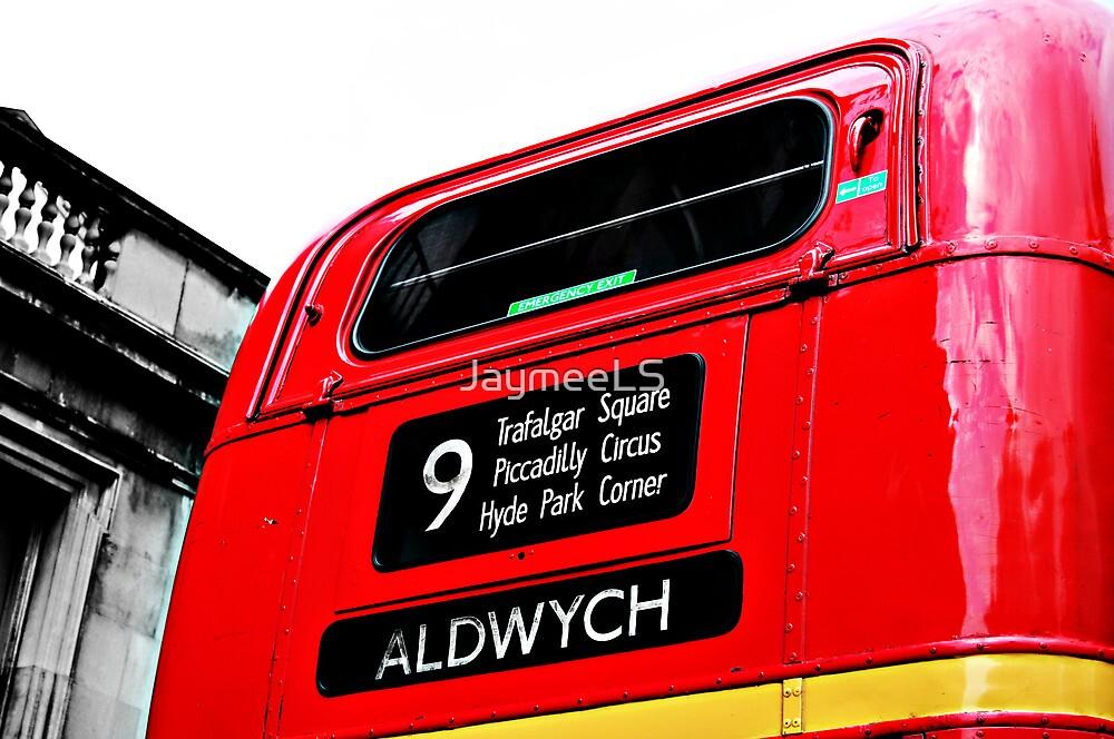 Big Red Bus by JaymeeLS