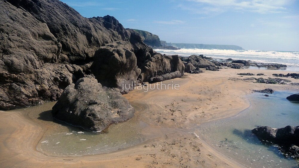 Dollar Cove sands, Cornwall by juliaguthrie