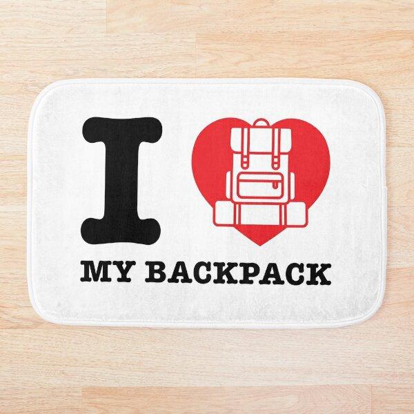 I Love My Backpack Bath Mat