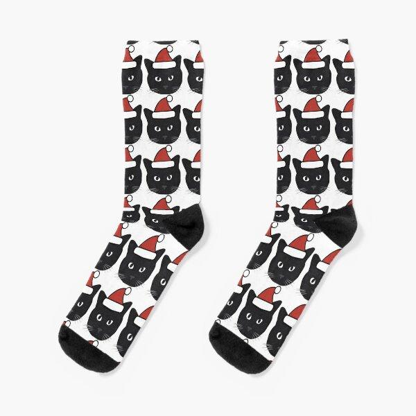 Weihnachten schwarze Katze Socken