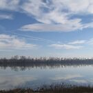 River Under Winter's Clouds by branko stanic
