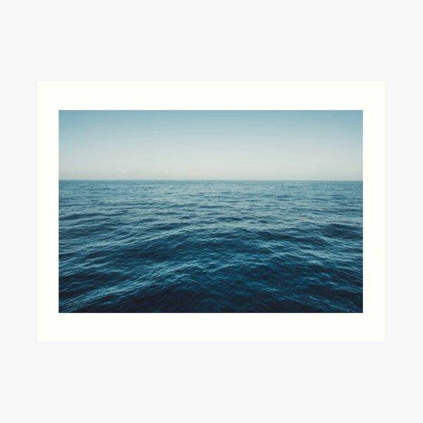 ocean, water, blue sky  -  horizon over water - seascape photography Art Print