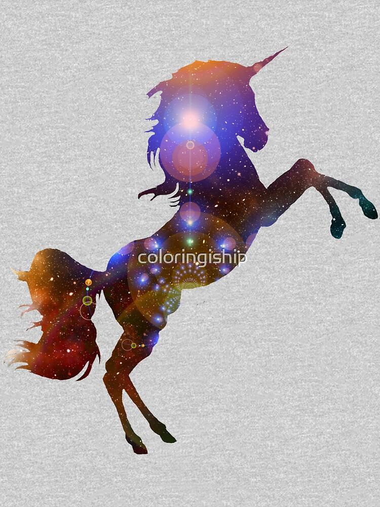 Unicorn Galaxy by coloringiship
