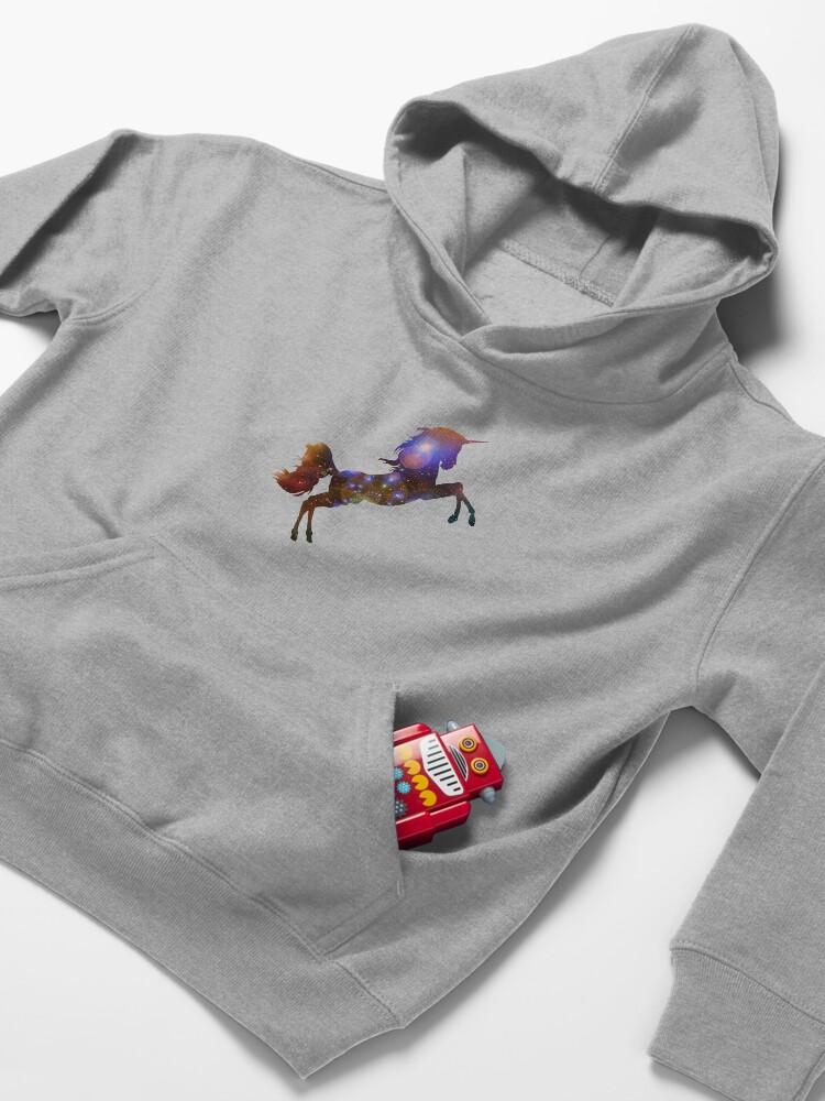 Alternate view of Unicorn Galaxy Kids Pullover Hoodie