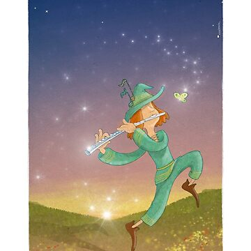 The Dazzling Flutist by vicentbeneito