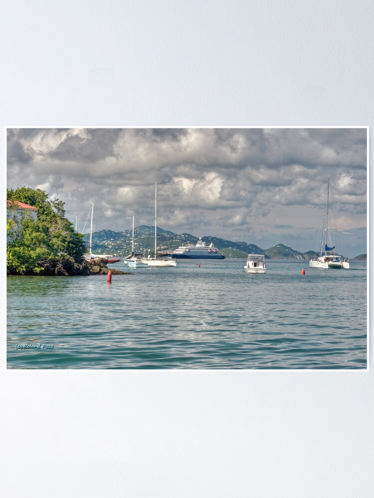 Alternate view of Approaching Cruz Bay Poster