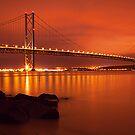 Forth Bridge In Gold by Don Alexander Lumsden (Echo7)