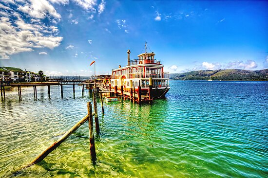 Steam Boat Ferry at Knysna by JandeBeer