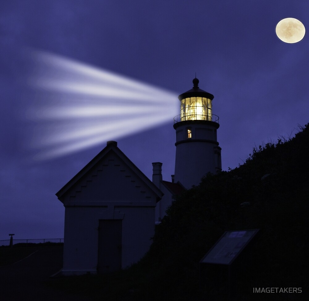 Heceta Head Lighthouse - Moonshine by IMAGETAKERS
