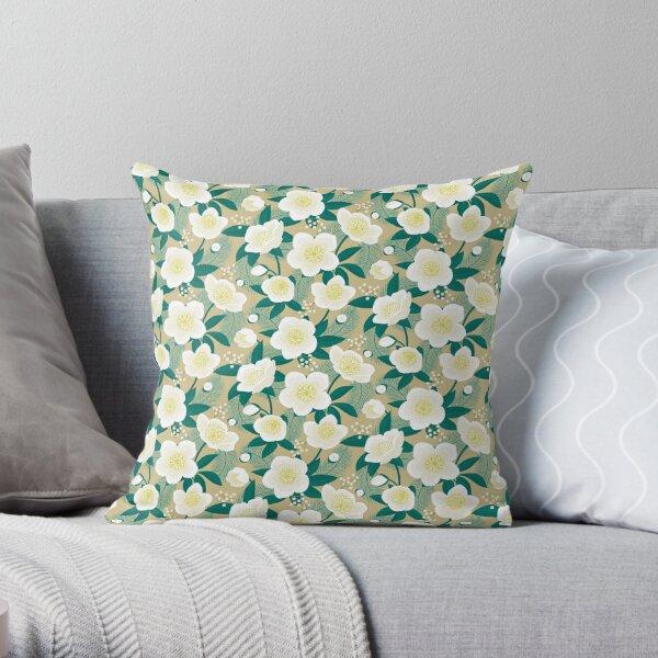Christmas rose (3) Throw Pillow