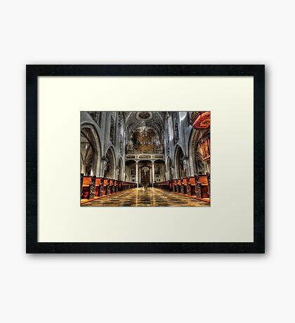 Pipe Organ - Lansberg Am Lech cathedral Framed Print