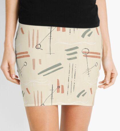 Tribal Signs #redbubble #pattern Mini Skirt