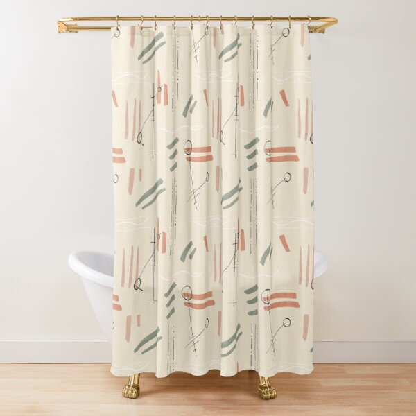 Tribal Signs #redbubble #pattern Shower Curtain