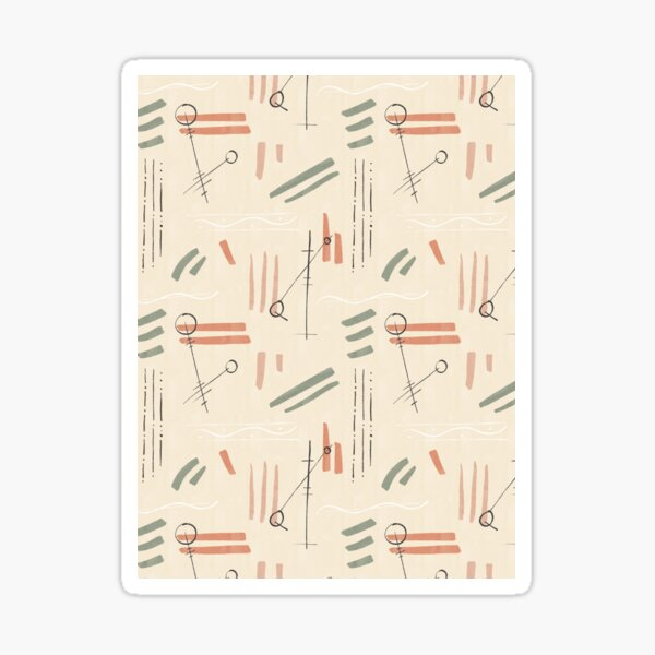 Tribal Signs #redbubble #pattern Sticker