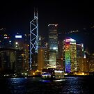 Hong Kong Island - Night View by Richie Wessen
