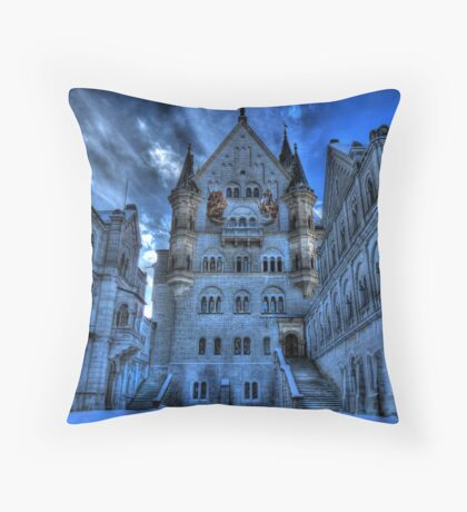 A Mad King's Courtyard Throw Pillow