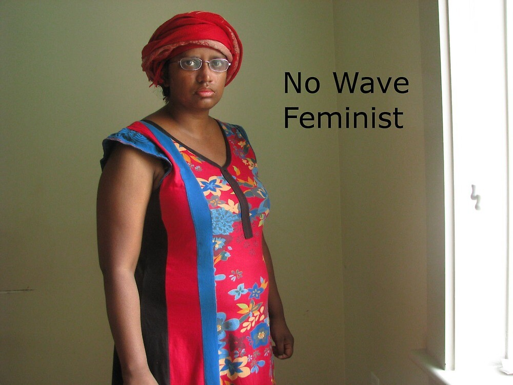No Wave Feminist (blue and red dress) by SajiaSultana