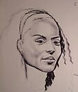 Sketch of a face by SFlora